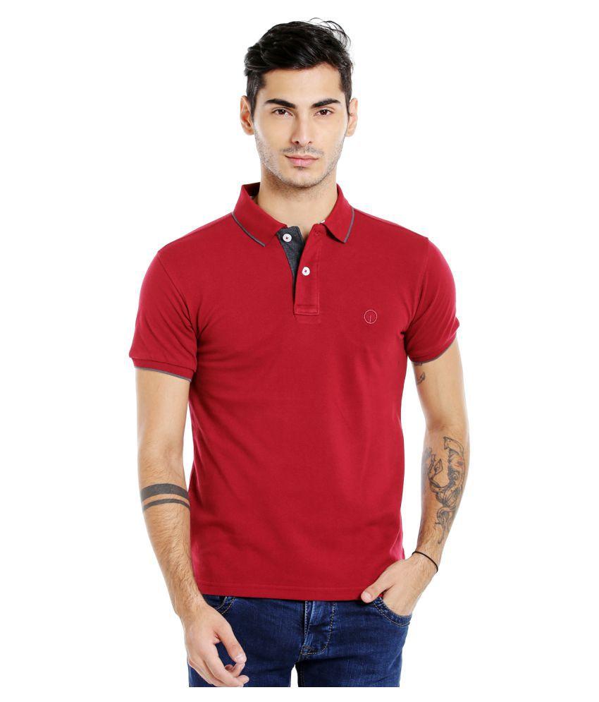 Integriti Red Slim Fit Polo T Shirt