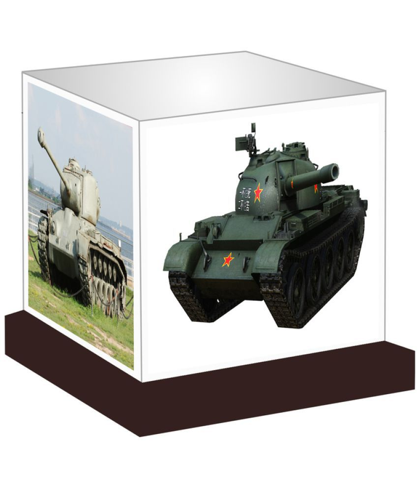 Unique Indian Crafts  Army Tanks Night Lamp Multi - Pack of 1