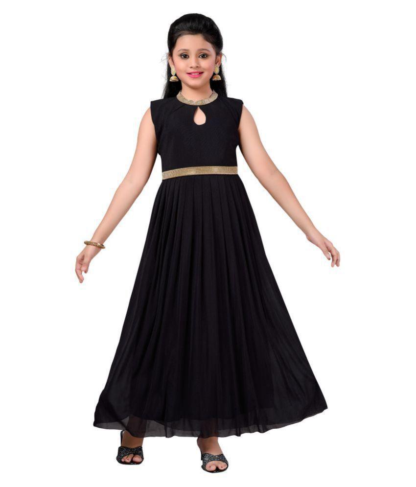 843bb8a524c Aarika Girl's Self Design Net Fabric Party Wear Ball Gown