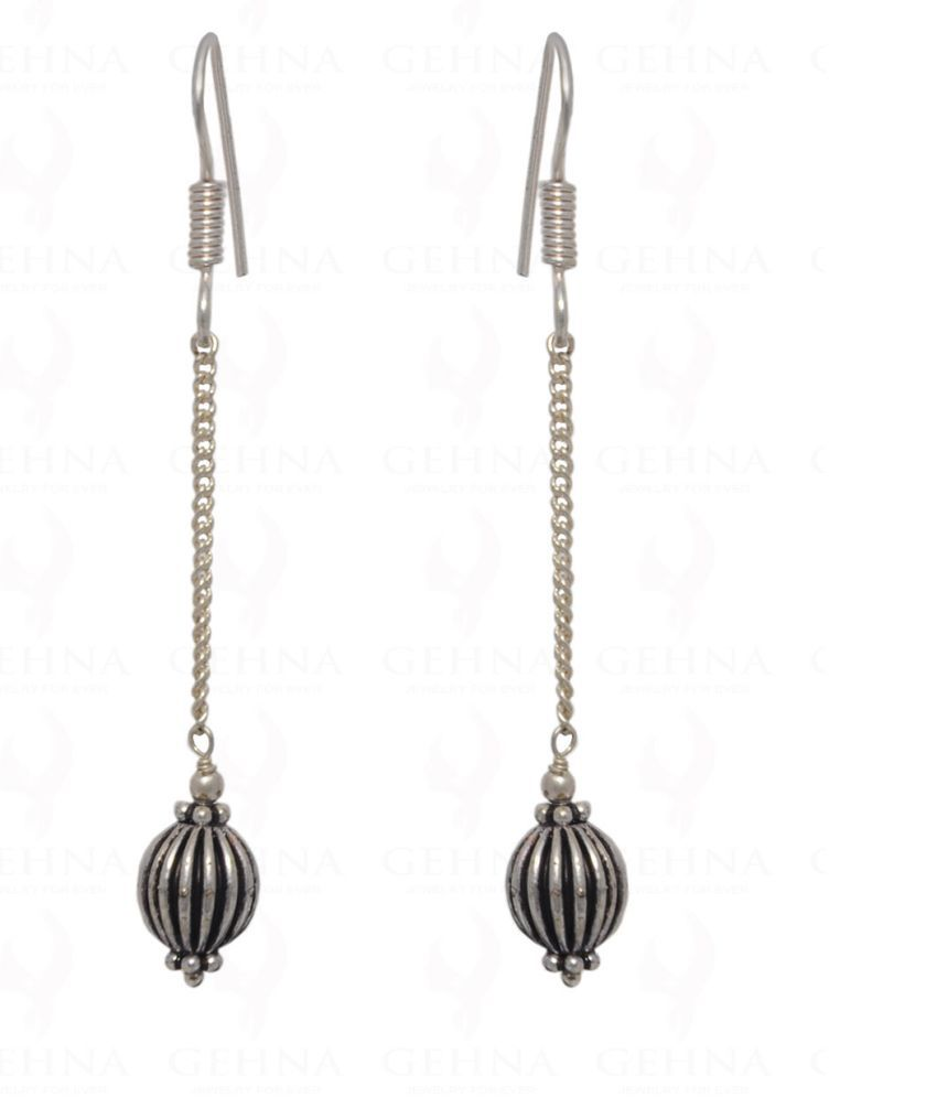 Dangle Style Earring In .925 Silver Overlay