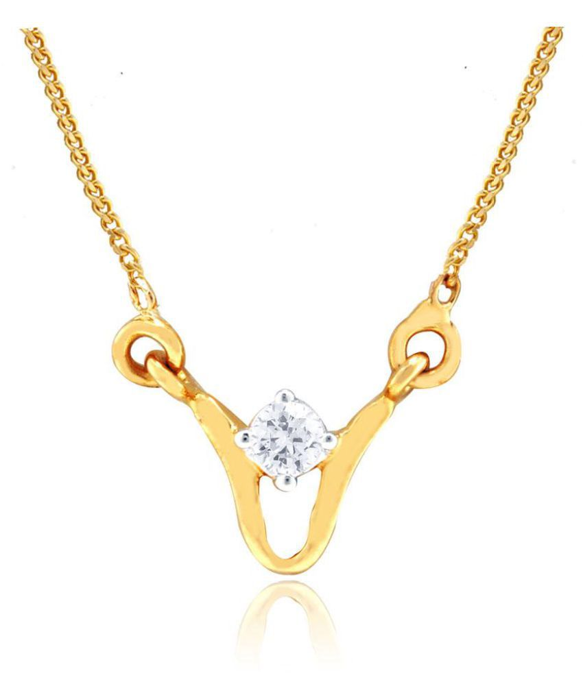 Me-Solitaire 18k Gold Diamond Mangalsutra