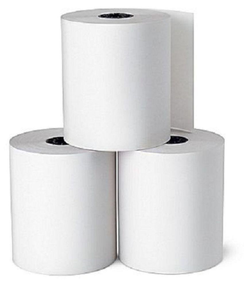 SWAGGERS THERMAL PAPER ROLL (3 INCH) 79mm x 50 Mtrs Length Thermal Paper  (Set of 10, White)