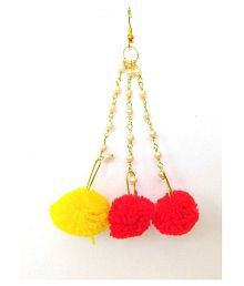 Unique Indian Crafts Earring/made in Pom Pom/Jewellery Earrings (1 Pair)traditional multicolor / for Women/Girls