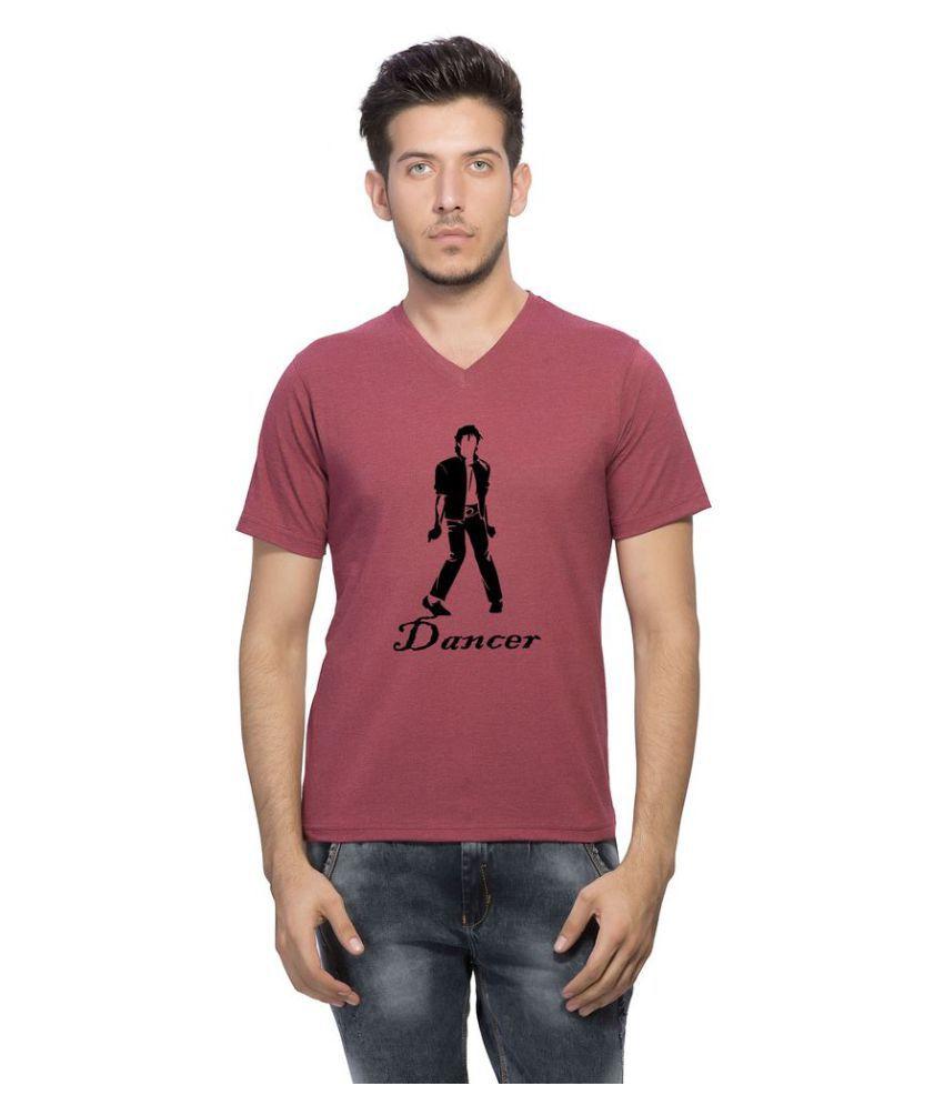 clifton Maroon V-Neck T-Shirt