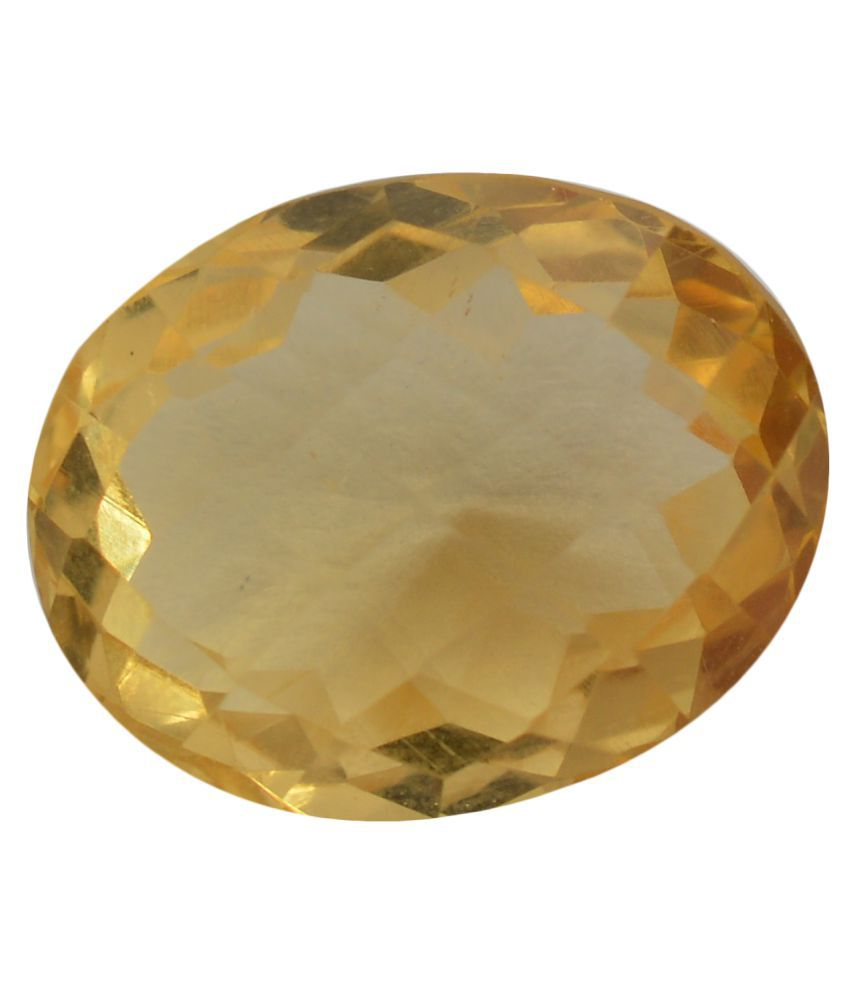 pitliya jewellers 7 -Ratti Self certified Yellow Citrine Semi-precious Gemstone