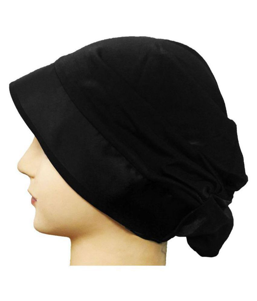 Cwen Collection Hijab BLACK LYCRA LYCRA CAP Under Scarf Poly Scarf Women  Islamic Wear Hair Cover Chemo Ladies Abaya Burqa  Buy Online at Low Price  in India ... a5ce4aec0f96
