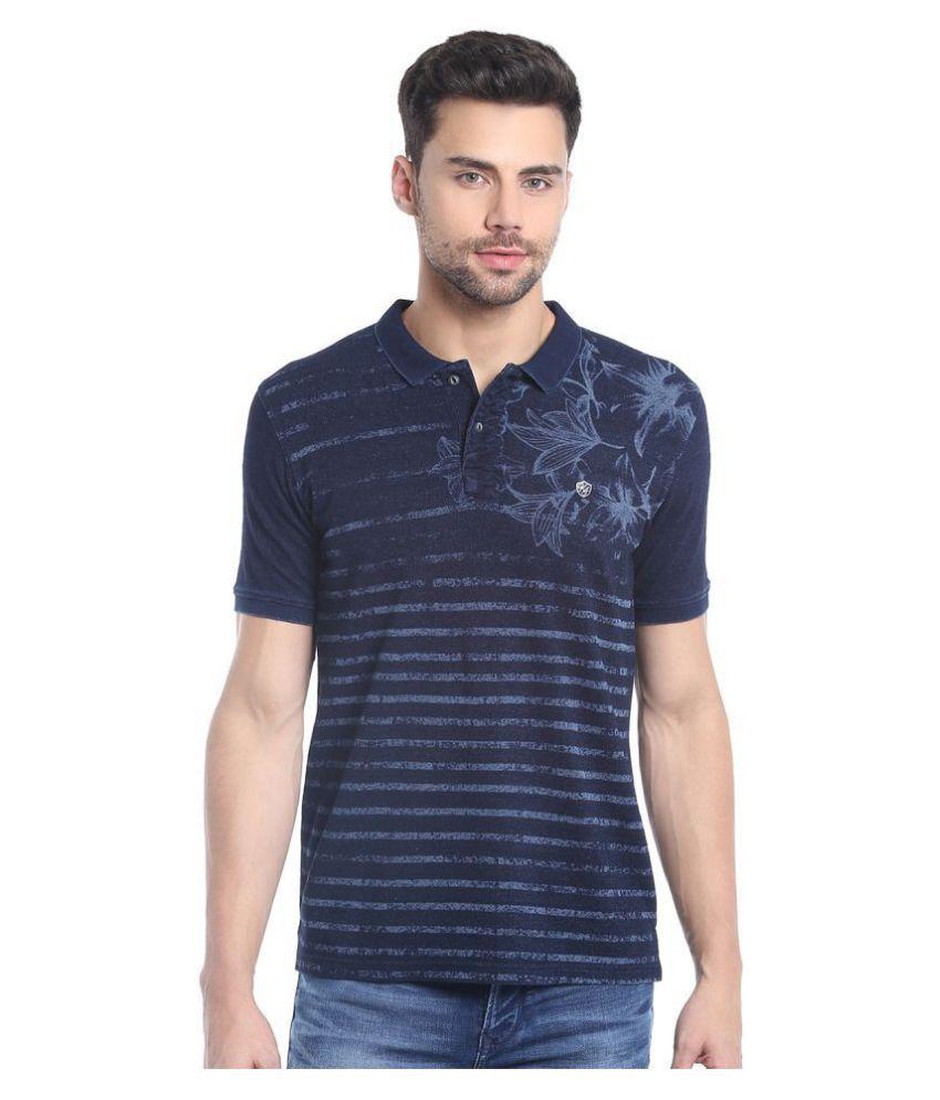 KILLER Blue High Neck T-Shirt