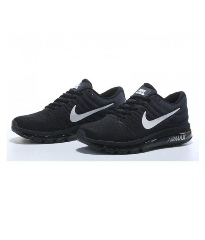 half off 2825f 5d0f2 Nike AIR MAX 2017 BLACK Running Shoes - Buy Nike AIR MAX 2017 BLACK Running  Shoes Online at Best Prices in India on Snapdeal
