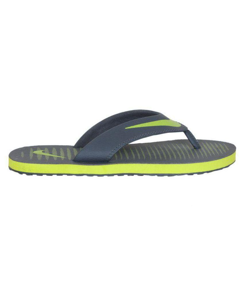 2f2d1aaf570 Nike Nike chroma 5 Green Thong Flip Flop Price in India- Buy Nike ...