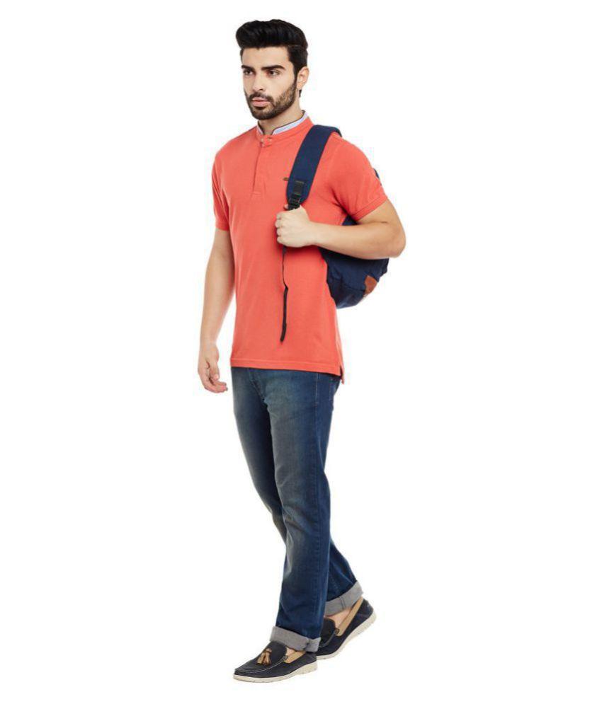 Numero Uno Orange Henley T-Shirt