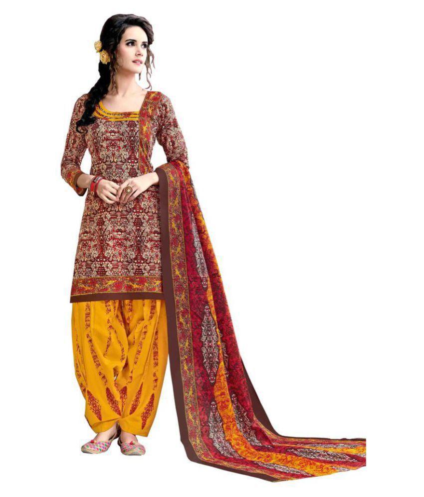 PADMiNi Multicoloured Cotton Dress Material