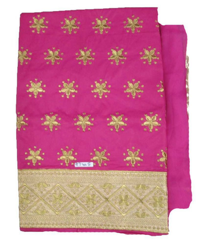 Anjali Pink Cotton Dress Material