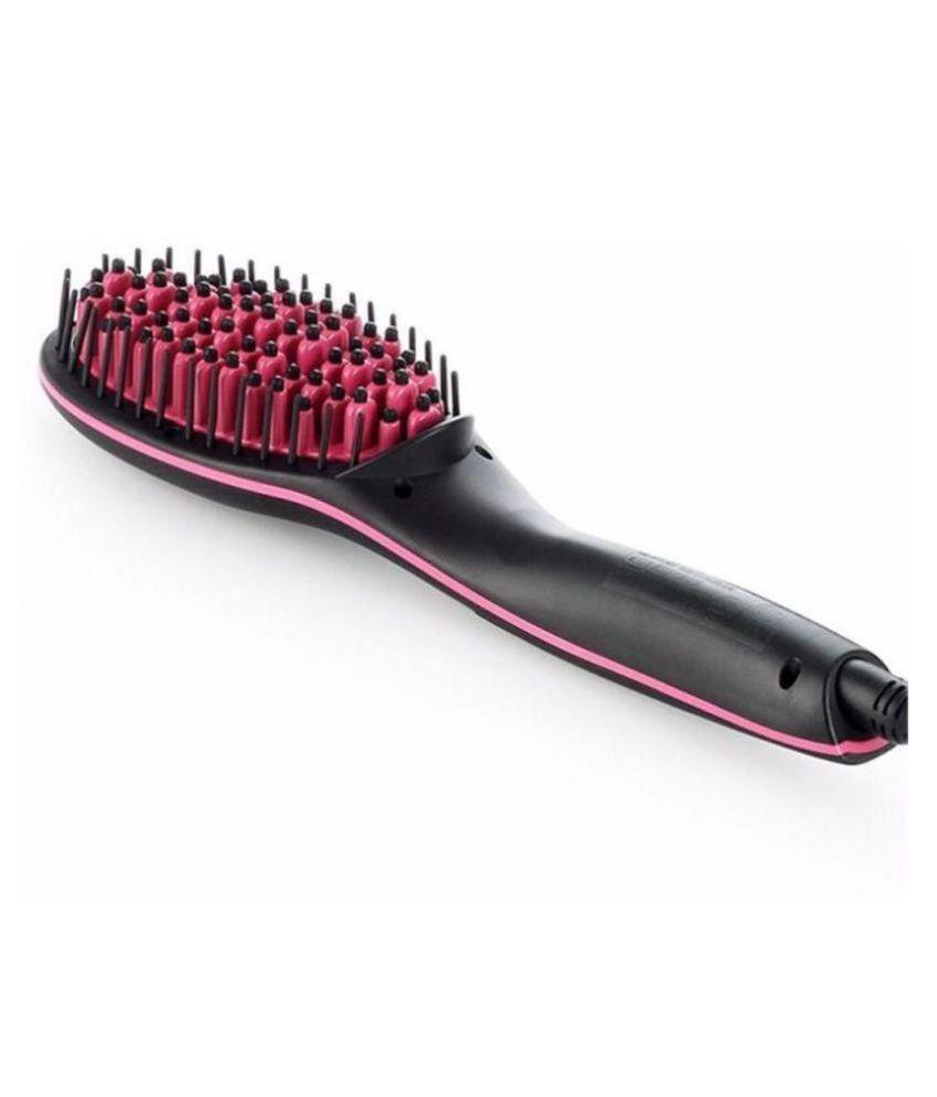 Kanha Comb Brush with LCD Temperature Display Hair Straightener ( Black )