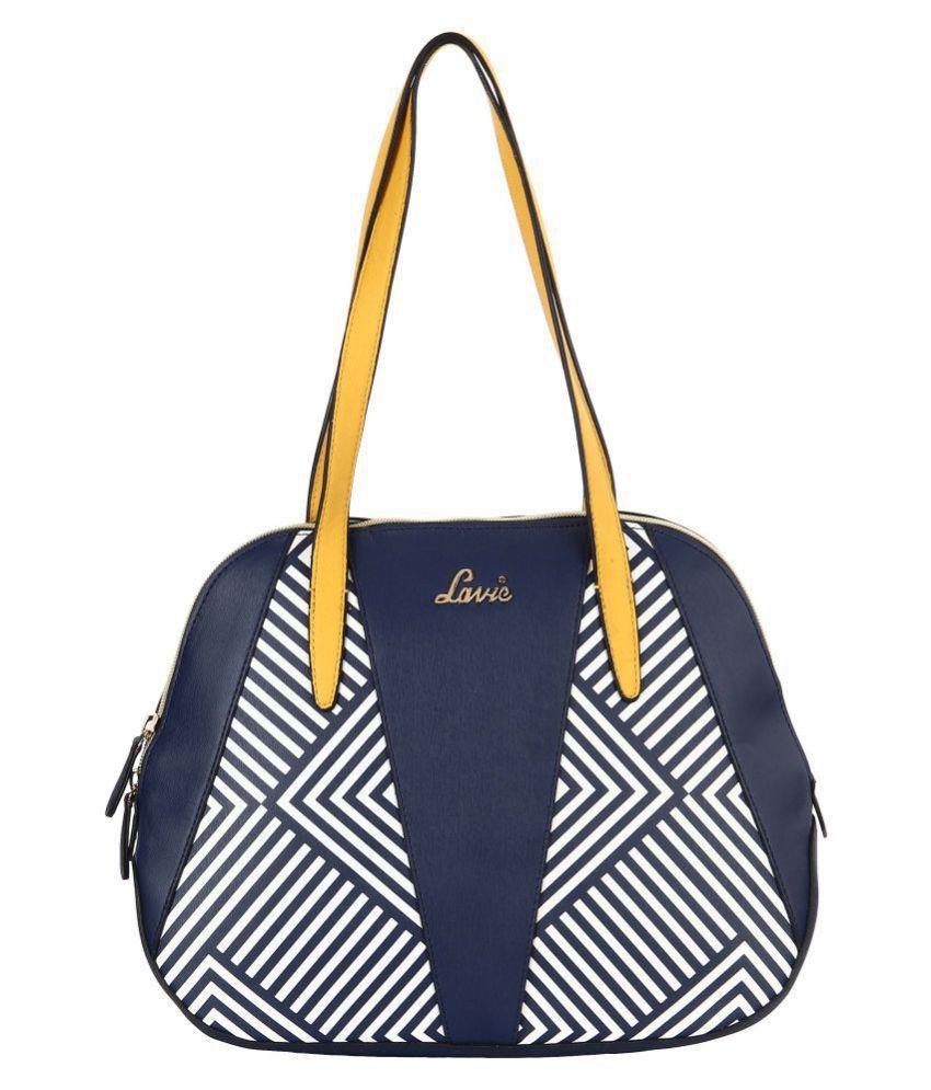 Lavie Navy P.U. Shoulder Bag