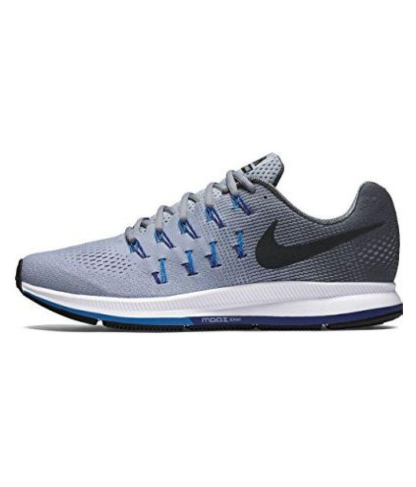b3fad4fa820d9 Nike 1 PEGASUS 33 GREY BLUE Running Shoes - Buy Nike 1 PEGASUS 33 GREY BLUE  Running Shoes Online at Best Prices in India on Snapdeal