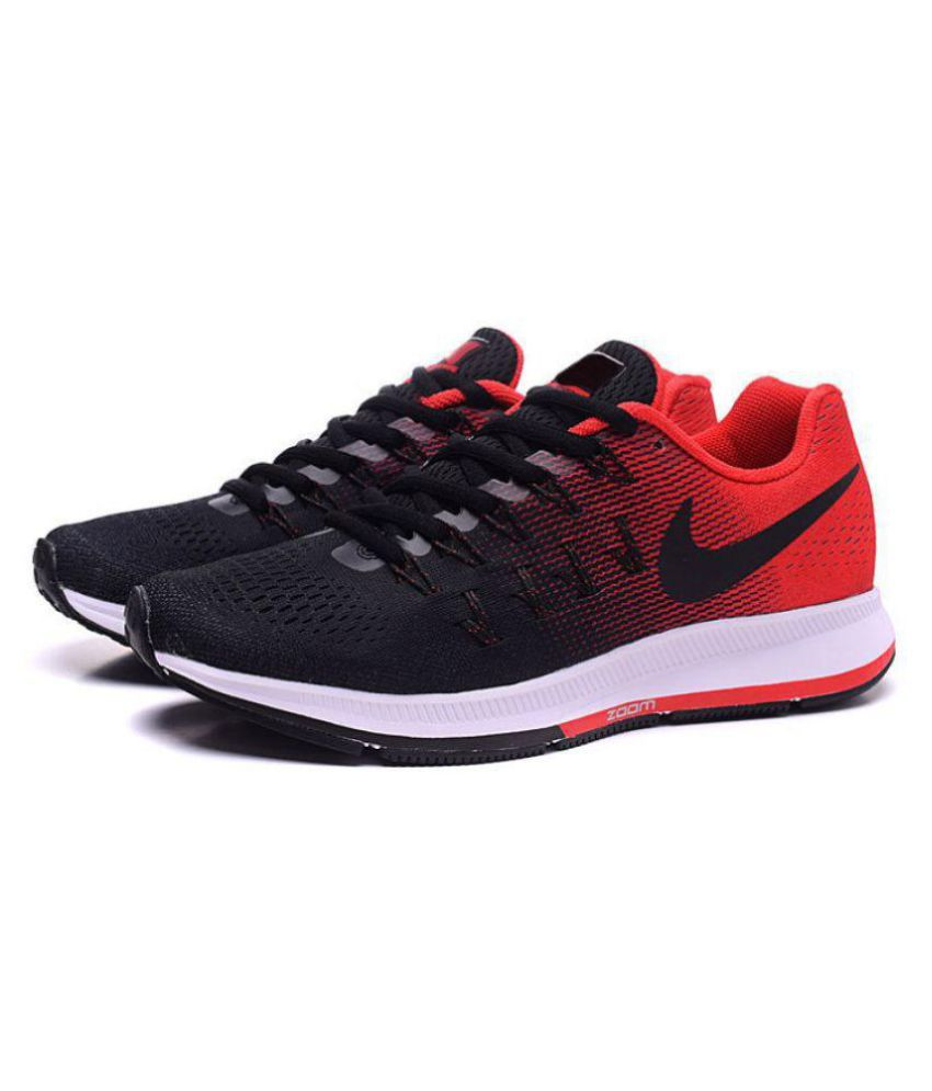 a0d3098e9e66 Nike 1 Pegasus 33 Black Red Running Shoes - Buy Nike 1 Pegasus 33 Black Red Running  Shoes Online at Best Prices in India on Snapdeal
