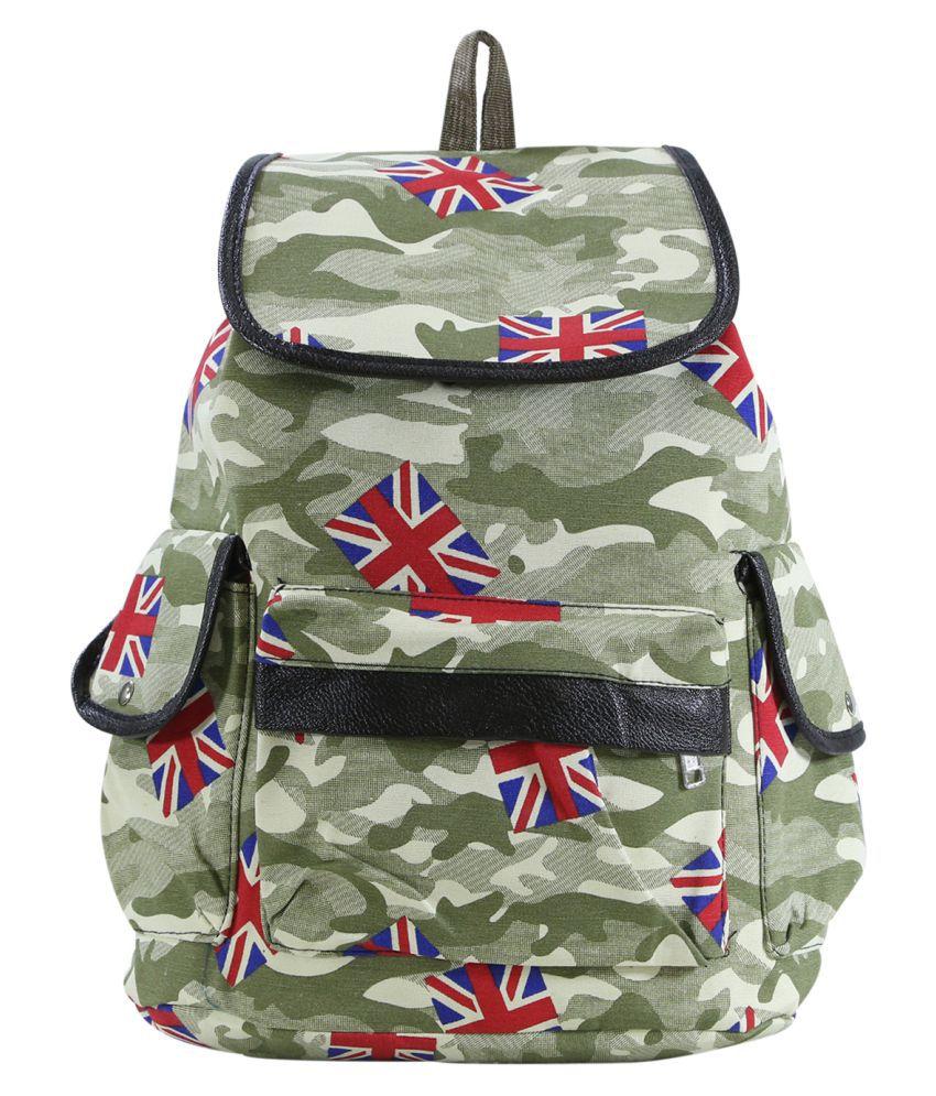 Desence Green Cotton Backpack