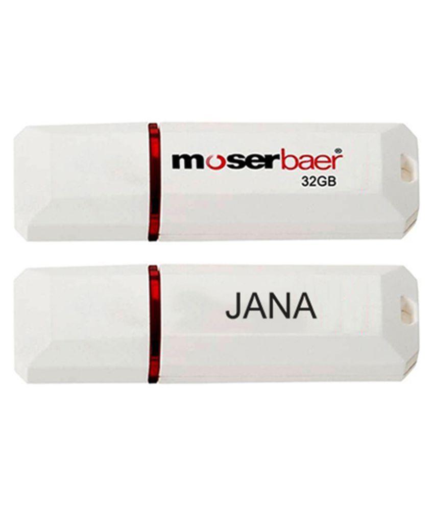 Moserbaer 32GB USB 2.0 Utility Pendrive Single