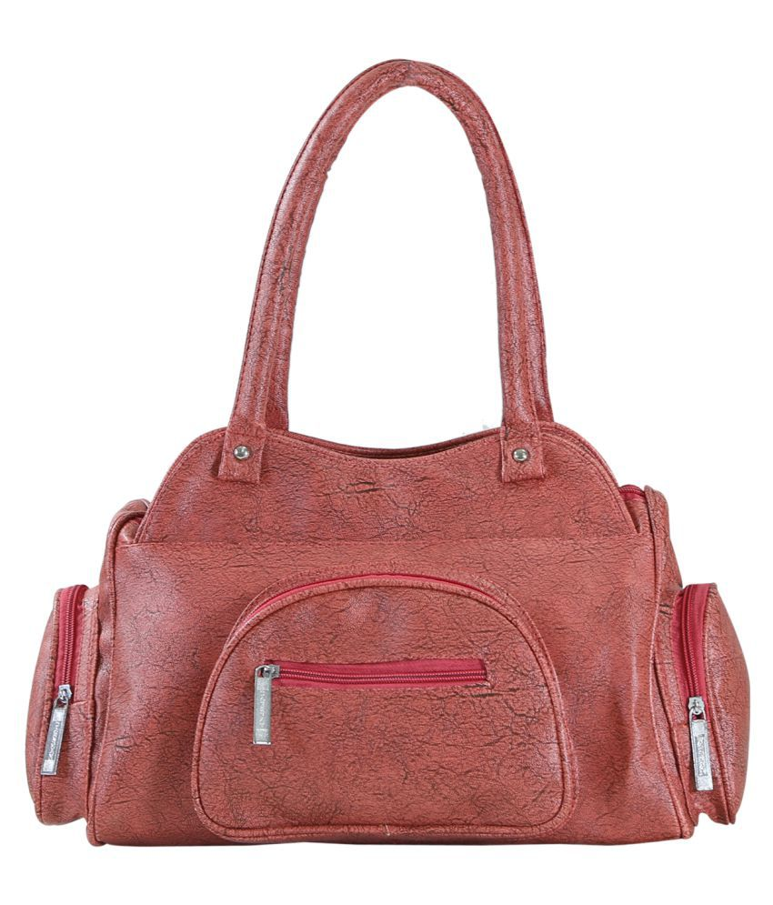 Desence Brown P.U. Shoulder Bag