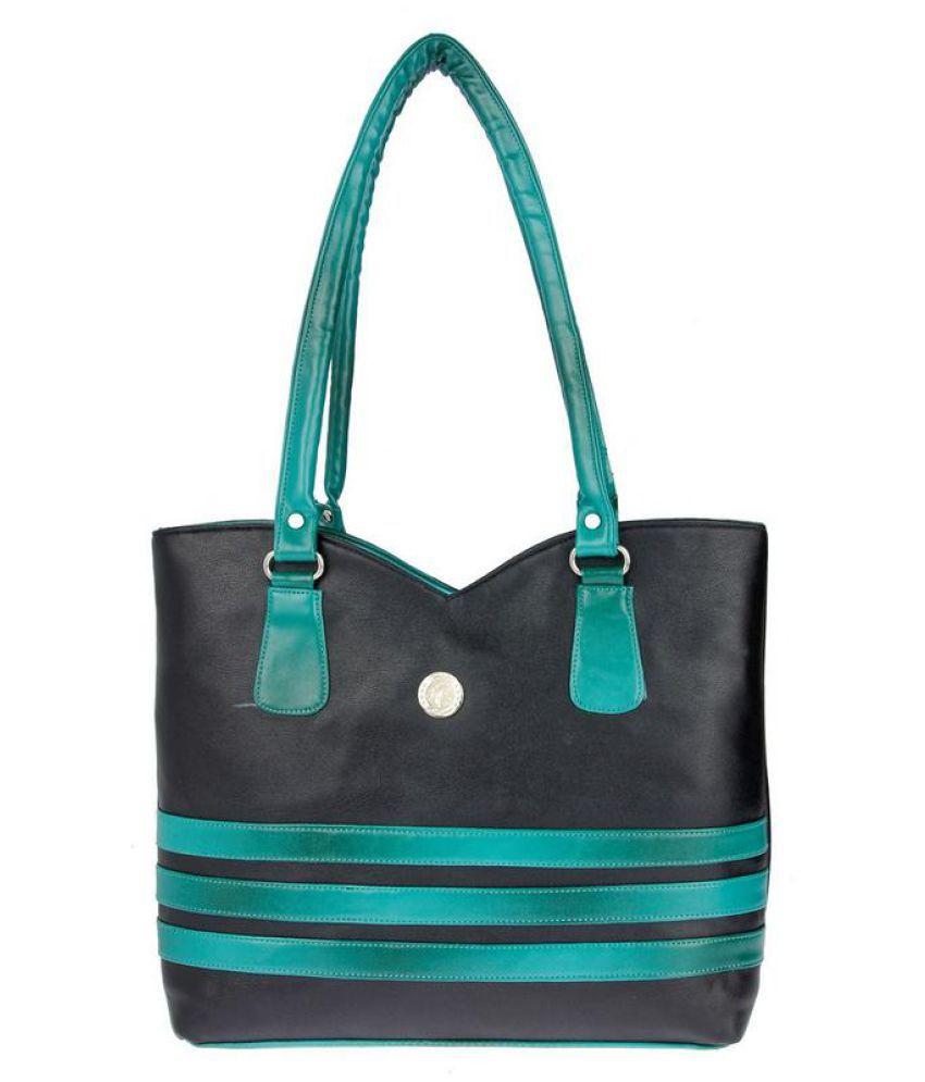 Jgshoppe Green Fabric Shoulder Bag