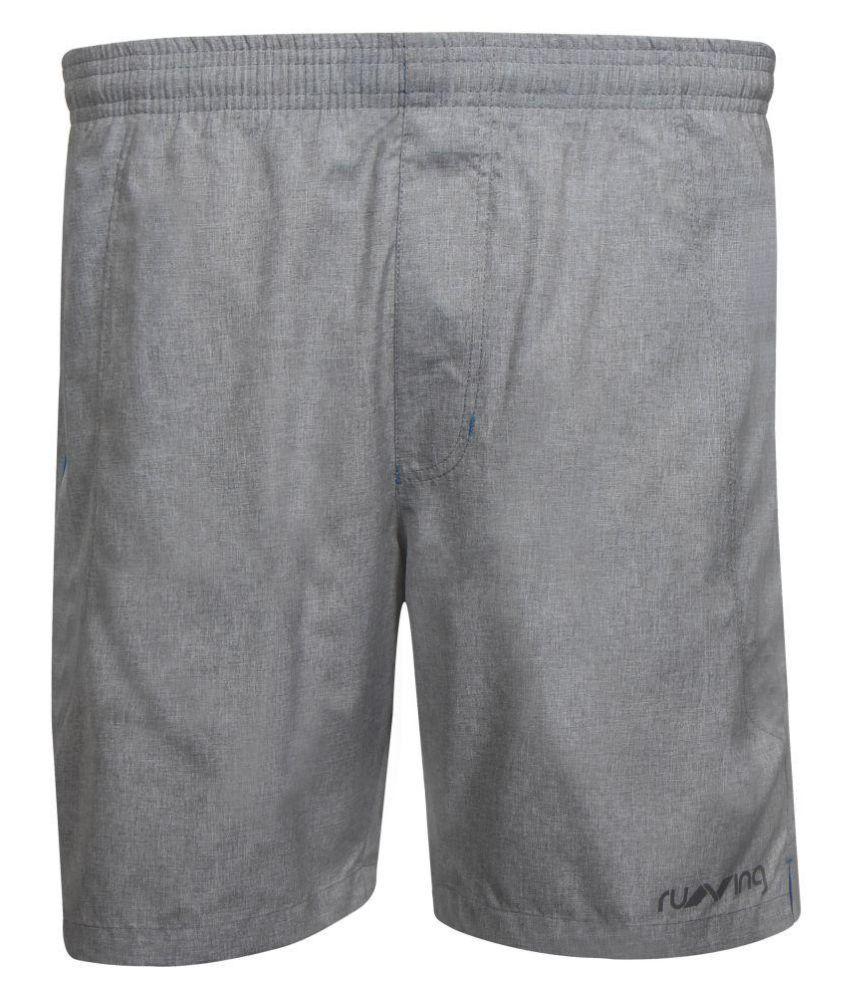 Nivia Grey Polyester Running Shorts