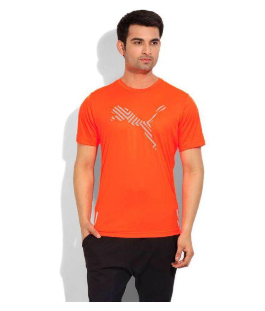 Puma Orange Round T-Shirt