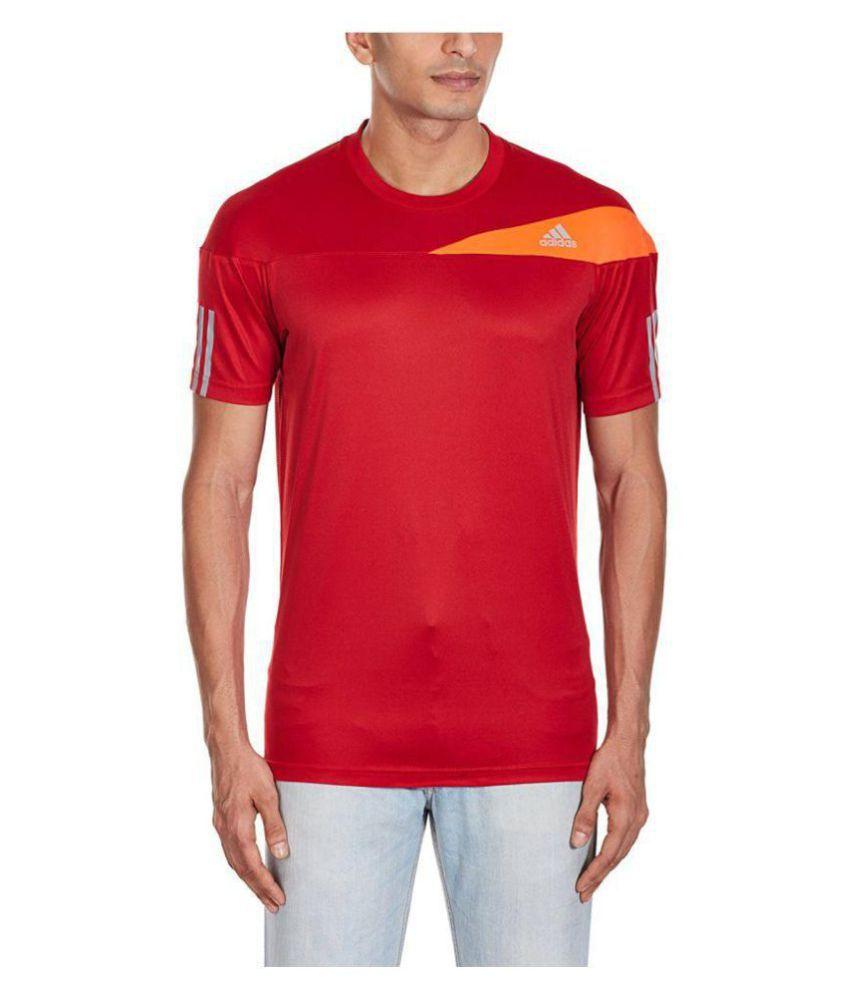 Adidas Red Round T-Shirt