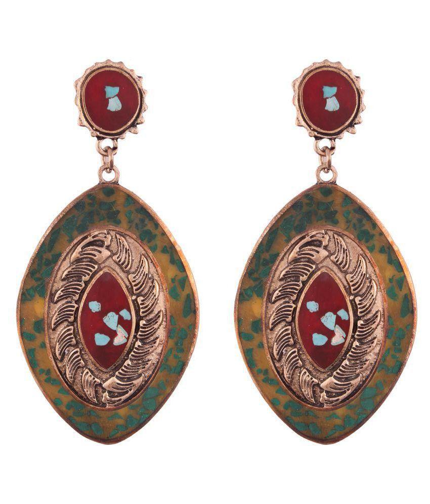 Jazz Trendy Trendz Oxidised Antique Fancy Party Wear Dangler Earrings for Girls and Women
