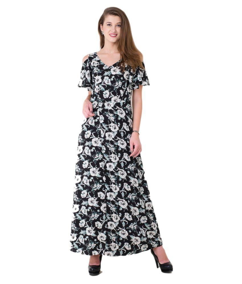 84eb251c14 V&M Crepe Black Wrap Dress - Buy V&M Crepe Black Wrap Dress Online at Best  Prices in India on Snapdeal