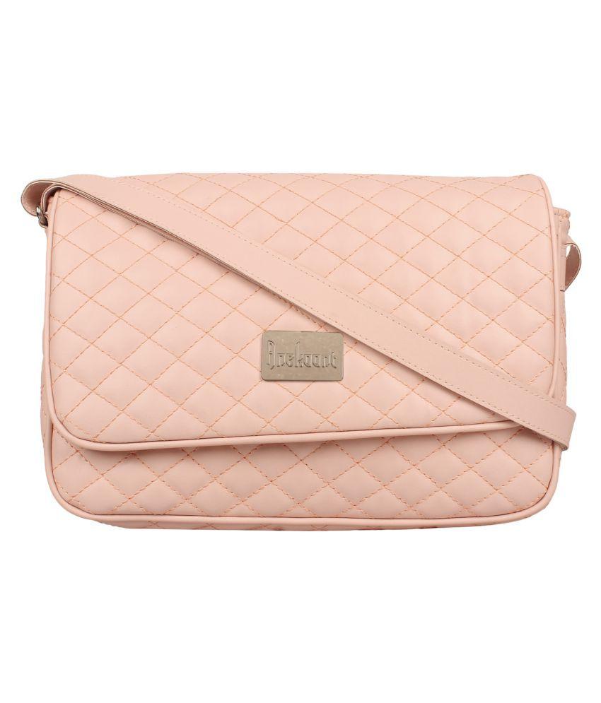 Anekaant Pink P.U. Sling Bag