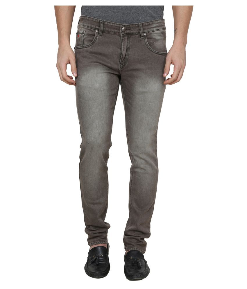 La Mode Brown Relaxed Jeans