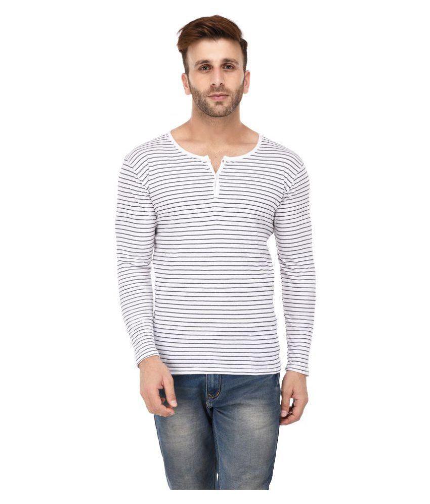 birdstone White Henley T-Shirt