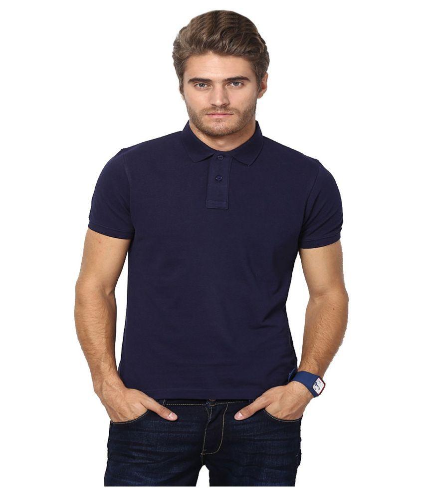 Lee zone Blue Cotton T-Shirt