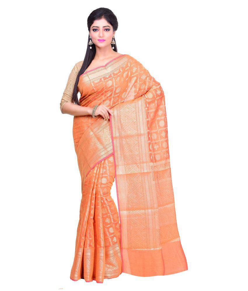 Jaishri Mustard Cotton Blend Saree