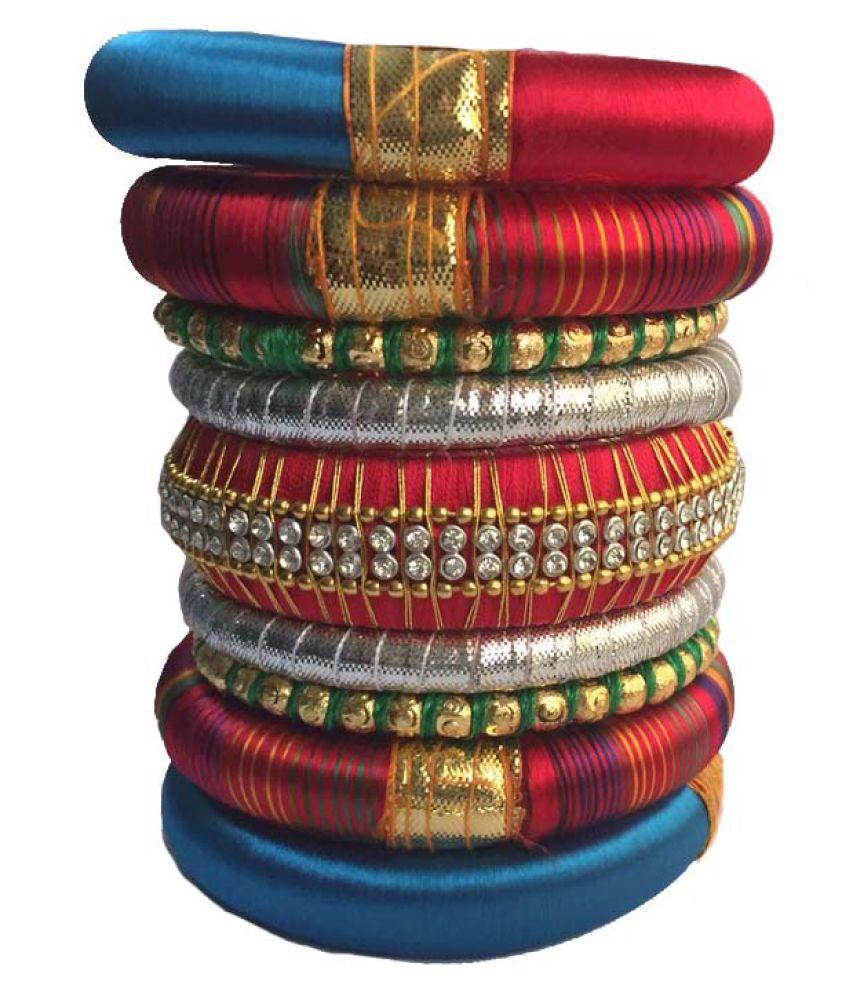 Nikush Handcrafted Silk Dori Bangle Set