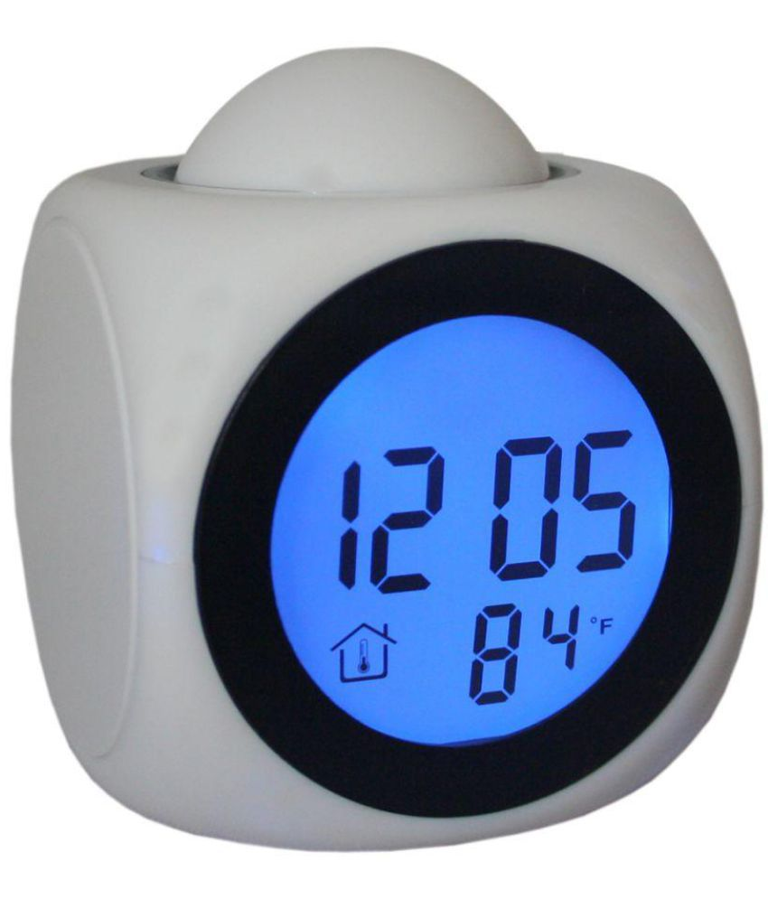 Sj Digital Talking Laser Projection Table Clock Alarm Pack Of 1