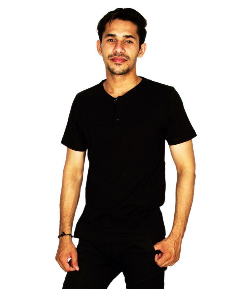 Hollane Fashion Ware Black Henley T-Shirt
