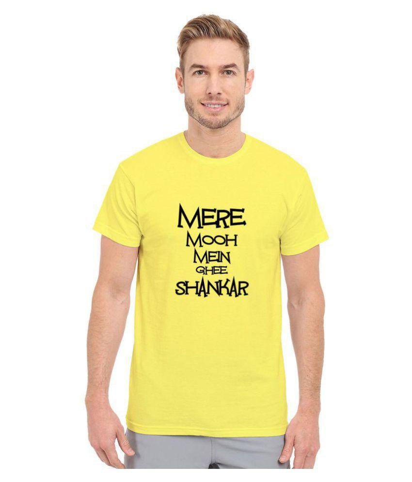 Redfool Fashions Yellow Round T-Shirt