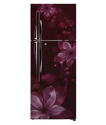 LG 260 Ltr 3 Star GL-I292RSOY Double Door Refrigerator - Maroon