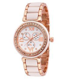 Renaissance Traders Designer White & Gold Diamond Watch For Women