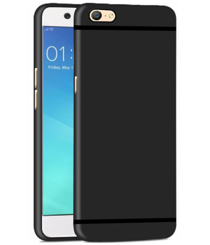 Oppo F1s Soft Silicon Cases Cell First - Black - Plain Back Covers Online at Low Prices   Snapdeal India