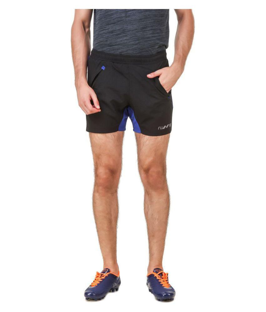 Nivia Black Polyester Fitness Shorts-2311L3