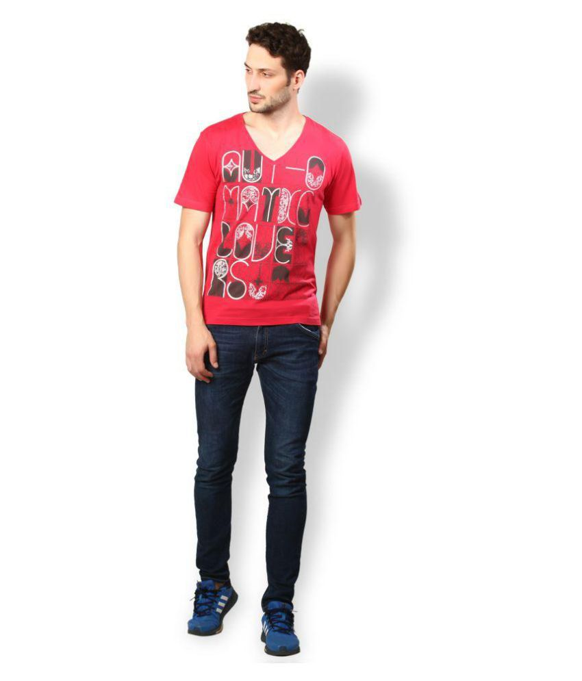 UV & W Red Cotton T-Shirt