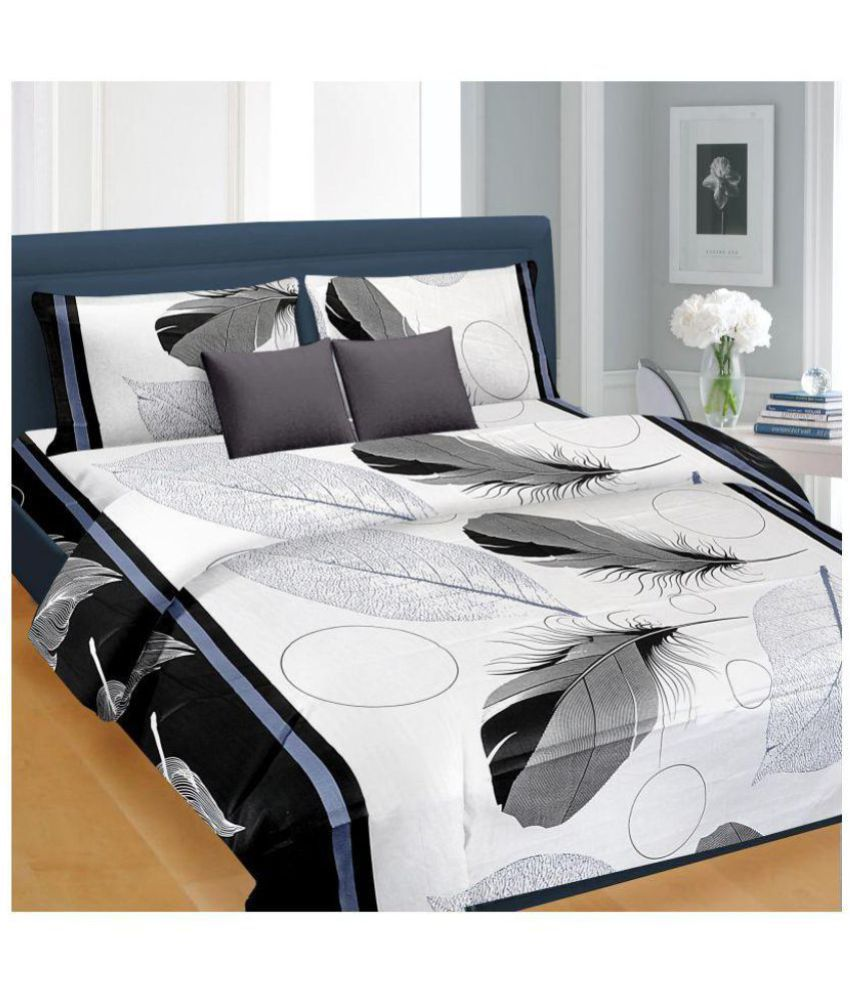 set printed home india bed cotton bedsheet prices amazon ecstasy in at buy sheet online blue double low dp
