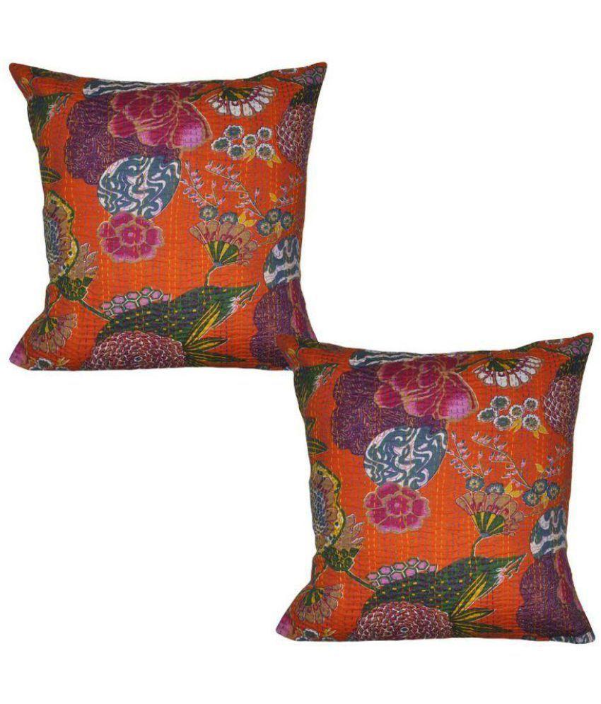 sdshopping Set of 2 Cotton Cushion Covers 40X40 cm (16X16)