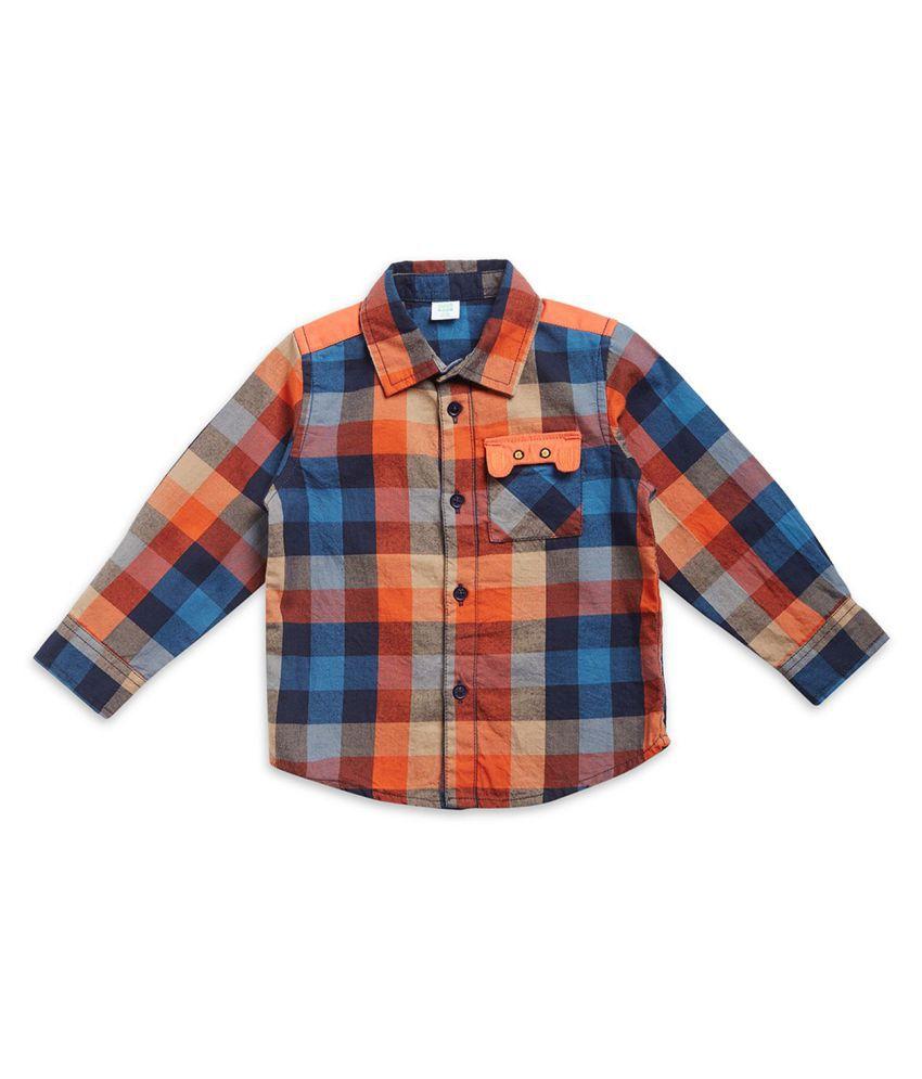 Mini Klub boys full sleeves shirt with checks