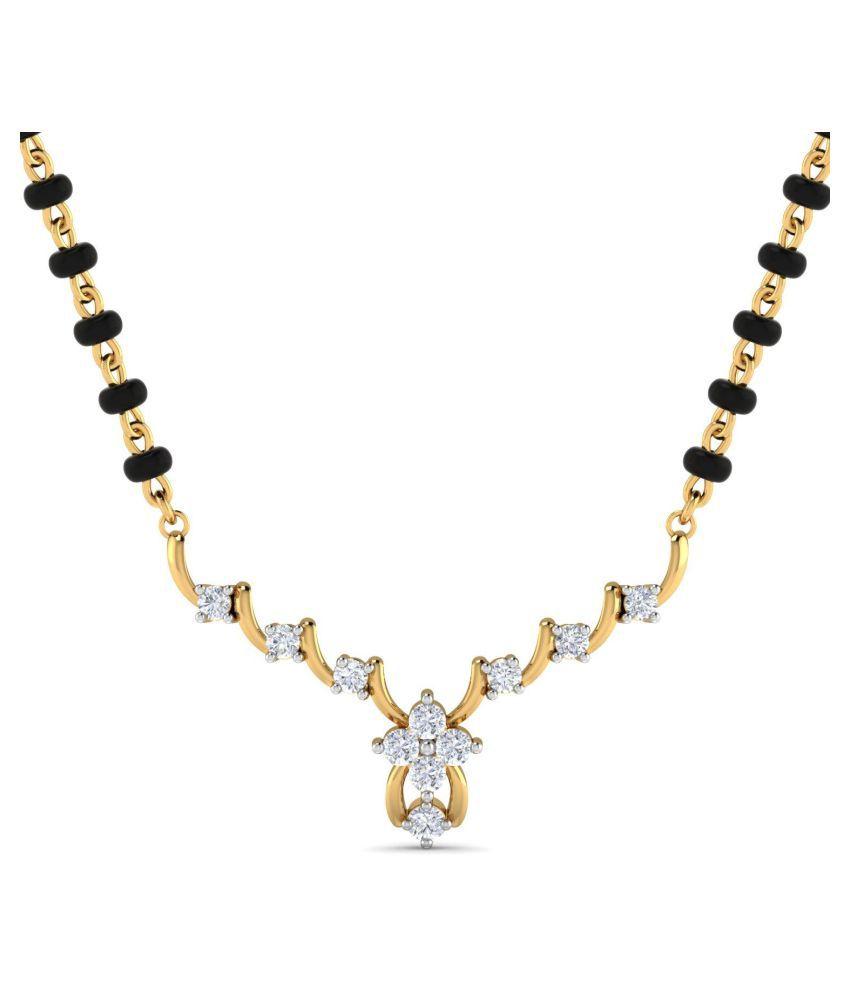 Glitterati By Asmi 18k Gold Diamond Mangalsutra
