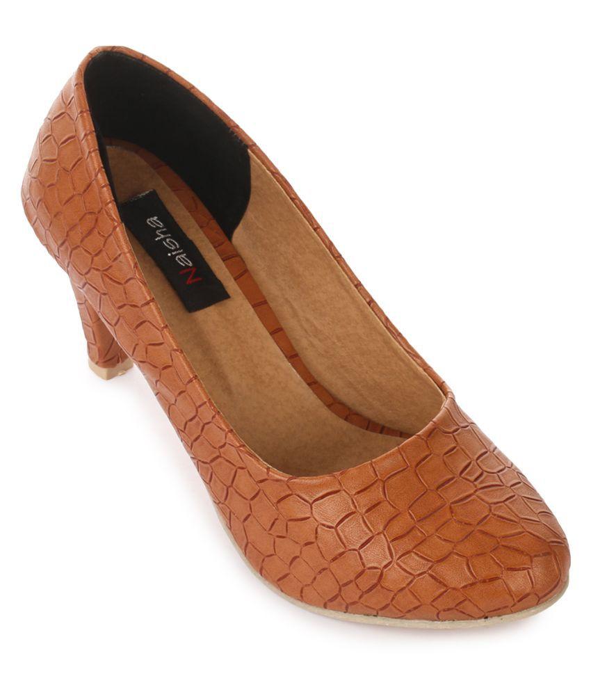 NAISHA Tan Stiletto Heels