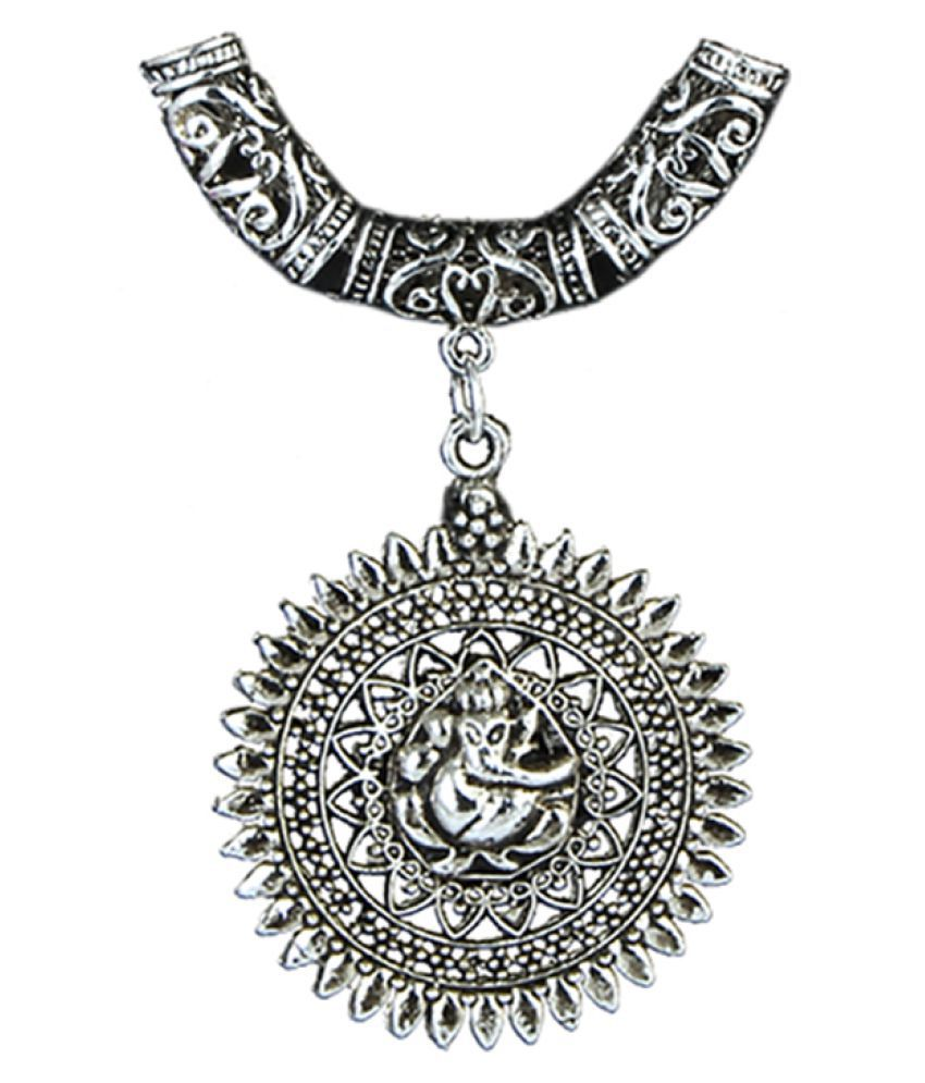 Waama jewels designer silver plated pendantnecklace set for womengirls waama jewels designer silver plated pendantnecklace set for womengirls aloadofball Image collections