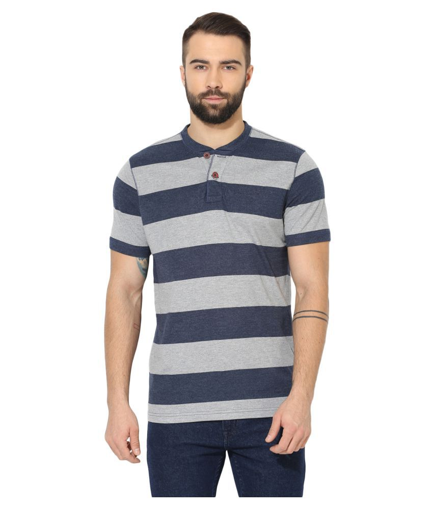 Red Tape Grey Henley T-Shirt